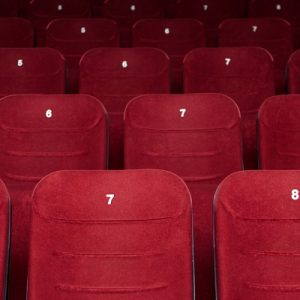 Empty cinema hall seats